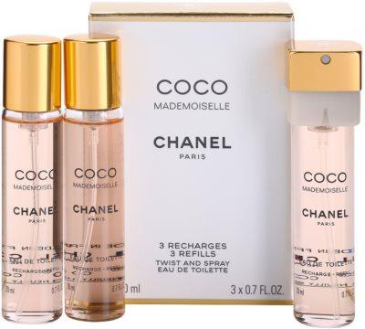 Chanel Coco Mademoiselle Eau de Toilette für Damen  (3 x Füllung)
