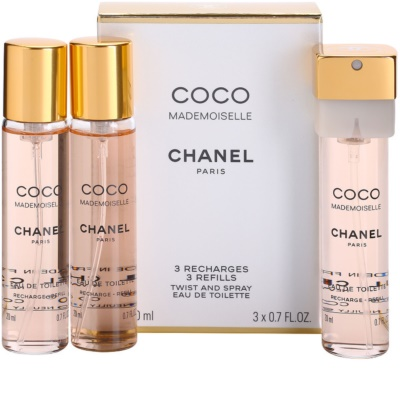 Chanel Coco Mademoiselle eau de toilette nőknek  (3 x utántöltő)