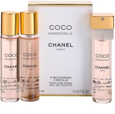 Chanel Coco Mademoiselle toaletní voda pro ženy  (3 x náplň)