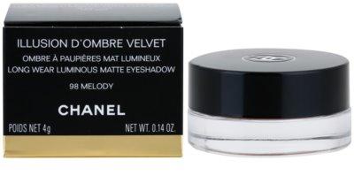 Chanel Illlusion D´Ombre Velvet матотви очни сенки с апликатор 3