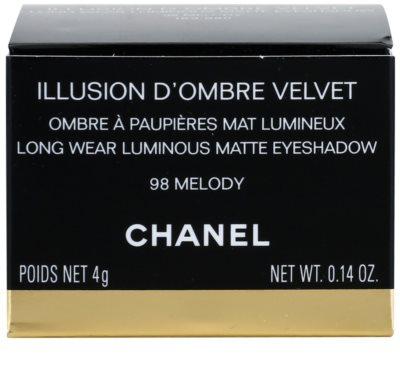 Chanel Illlusion D´Ombre Velvet Matter Lidschatten mit einem  Applikator 4