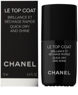 Chanel Le Top Coat Lac pentru protejarea ojei cu efect de stralucire 1
