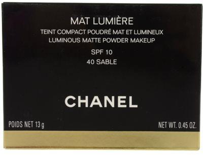 Chanel Mat Lumiere Compact сяюча пудра 2