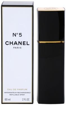Chanel No.5 eau de parfum para mujer  recargable