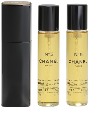 Chanel No.5 Eau de Toilette für Damen  (1x Nachfüllbar + 2x Nachfüllung)