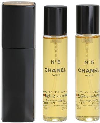 Chanel No.5 eau de toilette para mujer  (1x recargable + 2x recarga)