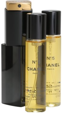 Chanel No.5 toaletní voda pro ženy  (1x plnitelná + 2x náplň) 1