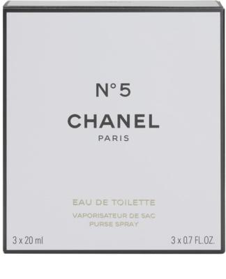 Chanel No.5 toaletní voda pro ženy  (1x plnitelná + 2x náplň) 5