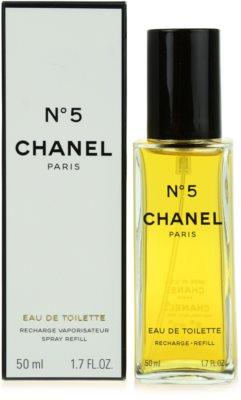 Chanel No.5 Eau de Toilette pentru femei  rezerva