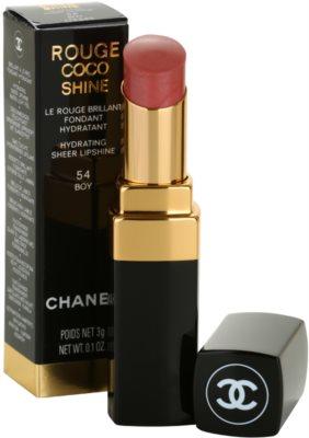 Chanel Rouge Coco Shine barra de labios hidratante 1