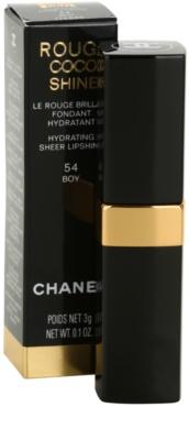 Chanel Rouge Coco Shine barra de labios hidratante 2