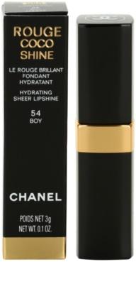 Chanel Rouge Coco Shine barra de labios hidratante 3