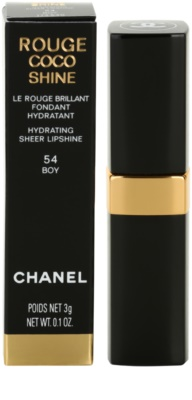 Chanel Rouge Coco Shine batom hidratante 3
