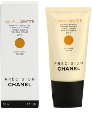 Chanel Précision Soleil Identité samoopalovací krém na obličej SPF 8 2
