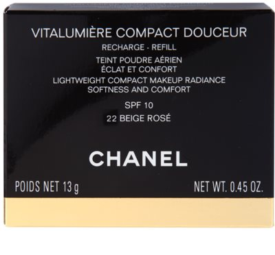 Chanel Vitalumiére Compact Douceur posvetlitveni kompaktni make-up nadomestno polnilo 3