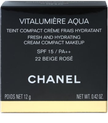 Chanel Vitalumiére Aqua hydratisierendes cremiges Make-up 5