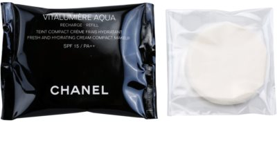 Chanel Vitalumiére Aqua base cremosa hidratante  recarga