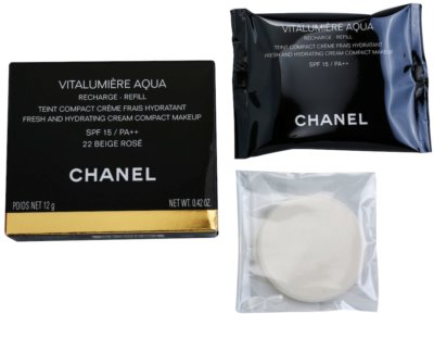 Chanel Vitalumiére Aqua maquillaje en crema hidratante Recambio 1