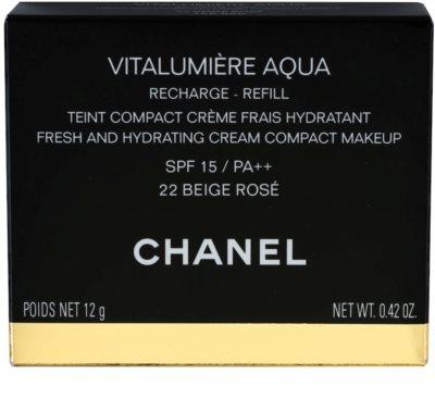 Chanel Vitalumiére Aqua maquillaje en crema hidratante Recambio 2