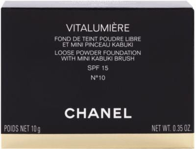 Chanel Vitalumiere polvos sueltos con cepillo 2