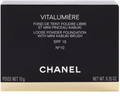 Chanel Vitalumiere loser Puder mit Pinselchen 2