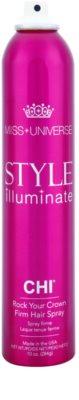CHI Style Illuminate Miss Universe gyorsan száradó spray a hajformázáshoz erős fixálás 1