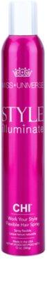 CHI Style Illuminate Miss Universe spray de secagem rápida para finalização reforço flexível