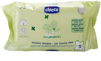 Chicco Baby Moments Cleansing sanfte Reinigungstücher für Kinder ab der Geburt