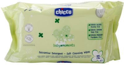Chicco Baby Moments Cleansing toalhitas suaves de limpeza para bebés 0+