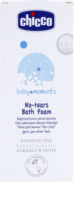 Chicco Baby Moments Wash espuma de baño para bebé lactante 2