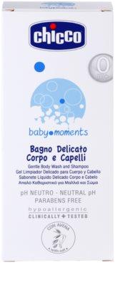 Chicco Baby Moments Wash gyengéd sampon hajra és testre  gyermekeknek születéstől kezdődően 2