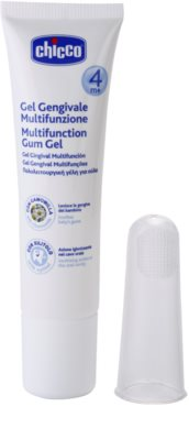 Chicco Oral Care gel za dlesni z masažno zobno ščetko 4m+