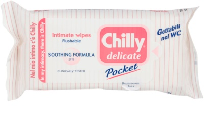 Chilly Intima Delicate papírtörlők az intim higiéniához