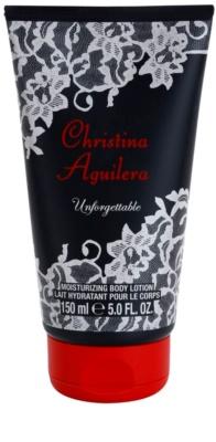 Christina Aguilera Unforgettable leite corporal para mulheres