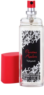 Christina Aguilera Unforgettable desodorizante vaporizador para mulheres