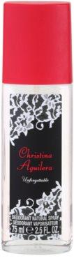 Christina Aguilera Unforgettable desodorante con pulverizador para mujer 1