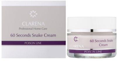 Clarena Poison Line 60 Second Snake crema cu efect de lifting cu efect antirid 1