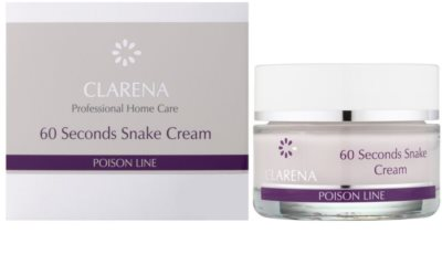Clarena Poison Line 60 Second Snake лифтинг крем с анти-бръчков ефект 1