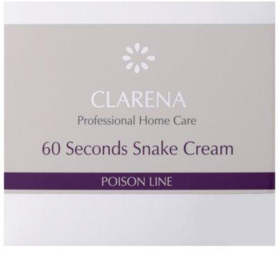 Clarena Poison Line 60 Second Snake crema cu efect de lifting cu efect antirid 2