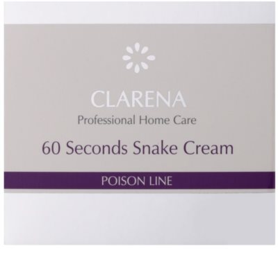Clarena Poison Line 60 Second Snake лифтинг крем с анти-бръчков ефект 2