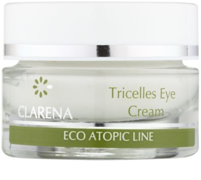 Clarena Eco Atopic Line Tricelles відновлюючий та зволожуючий крем для шкіри навколо очей з 3 видами стовбурових клітин для дуже сухої шкіри