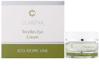 Clarena Eco Atopic Line Tricelles відновлюючий та зволожуючий крем для шкіри навколо очей з 3 видами стовбурових клітин для дуже сухої шкіри 1
