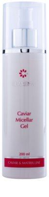 Clarena Caviar & Matrix Line gel micelar para una limpieza suave de pieles maduras