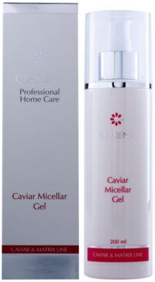Clarena Caviar & Matrix Line mizellares Gel zur sanften Reinigung von reifer Haut 2