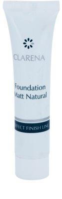 Clarena Perfect Finish Line Matt fluidni tekoči puder za mešano, mastno in občutljivo kožo majhen paket