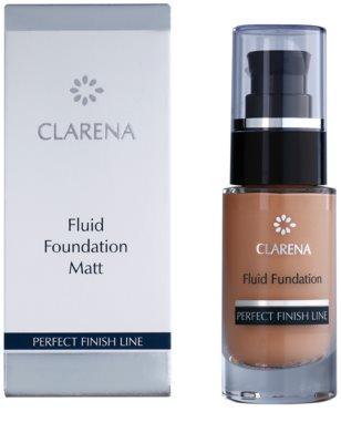Clarena Perfect Finish Line Matt maquillaje líquido para pieles mixtas, grasas y sensibles formato ahorro 2