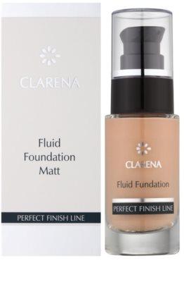 Clarena Perfect Finish Line Matt fluidní make-up pro smíšenou, mastnou a citlivou pleť velké balení 2