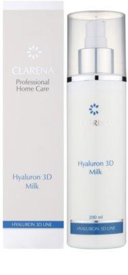 Clarena Hyaluron 3D Line hydratační odličovací mléko pro suchou pleť 1