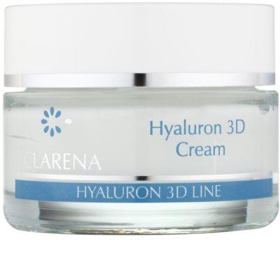Clarena Hyaluron 3D Line зволожуючий крем для шкіри з гіалуроновою  кислотою