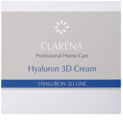 Clarena Hyaluron 3D Line зволожуючий крем для шкіри з гіалуроновою  кислотою 2